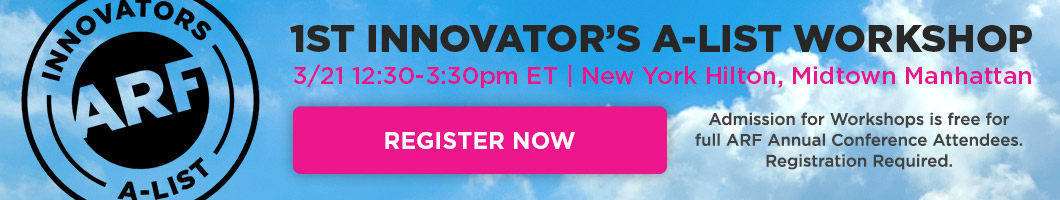 Innovators A-List Register now